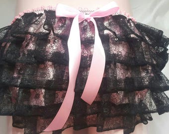 Made to Order..Satin SISSY.. lace Frilly ruffle bum knickers..any size..any colour by SweetCheeks