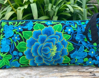 Hmong clutch bag, bohemian purse, boho bag, embroidered purse, evening bag, Thai purse, gifts for her