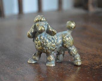 Brass Poodle dog