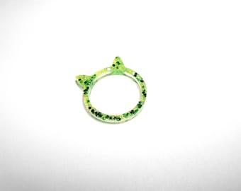 Resin - cat ears ring - size M