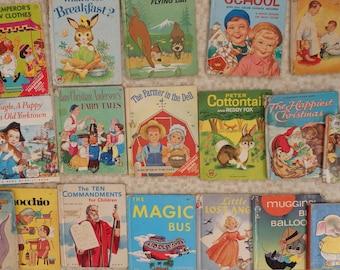 Vintage Wonder Book Lot Children's Story Book Lot