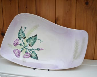 Vintage CARLTONWARE Morning Glory irregular shaped serving dish/ 1930s retro serving dish/ stunning item/ships worldwide