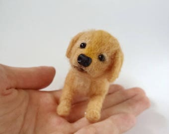 Miniature puppy, needle felt dog, pose-able needle felted dog, felted puppy, needle felted animal, dog lover, dolls' pet