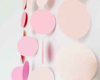 Pink circle garland