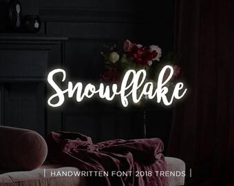 Snowflake digital font download, Calligraphy font, Digital font, Wedding font, Handwritten font, Download digital font, Swirly font, Script