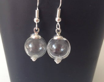 Earring, glass ball