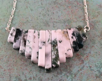 Mossy Semi-Precious Gemstone Necklace