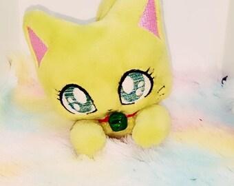 Green Cat Plush