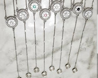 Bullet Necklace, Lariat, Y Necklace, Valentine's Day Gift