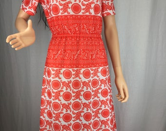 Bold and Bright 1970s Dress