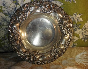 stunning estate rare alvin victorian sterling silver chrysanthemum repousse bowl