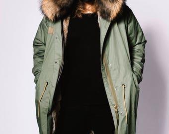 fur lined parka jacket mens