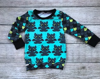 Toothless | How To Train Your Dragon | Baby Boys Top | 2T