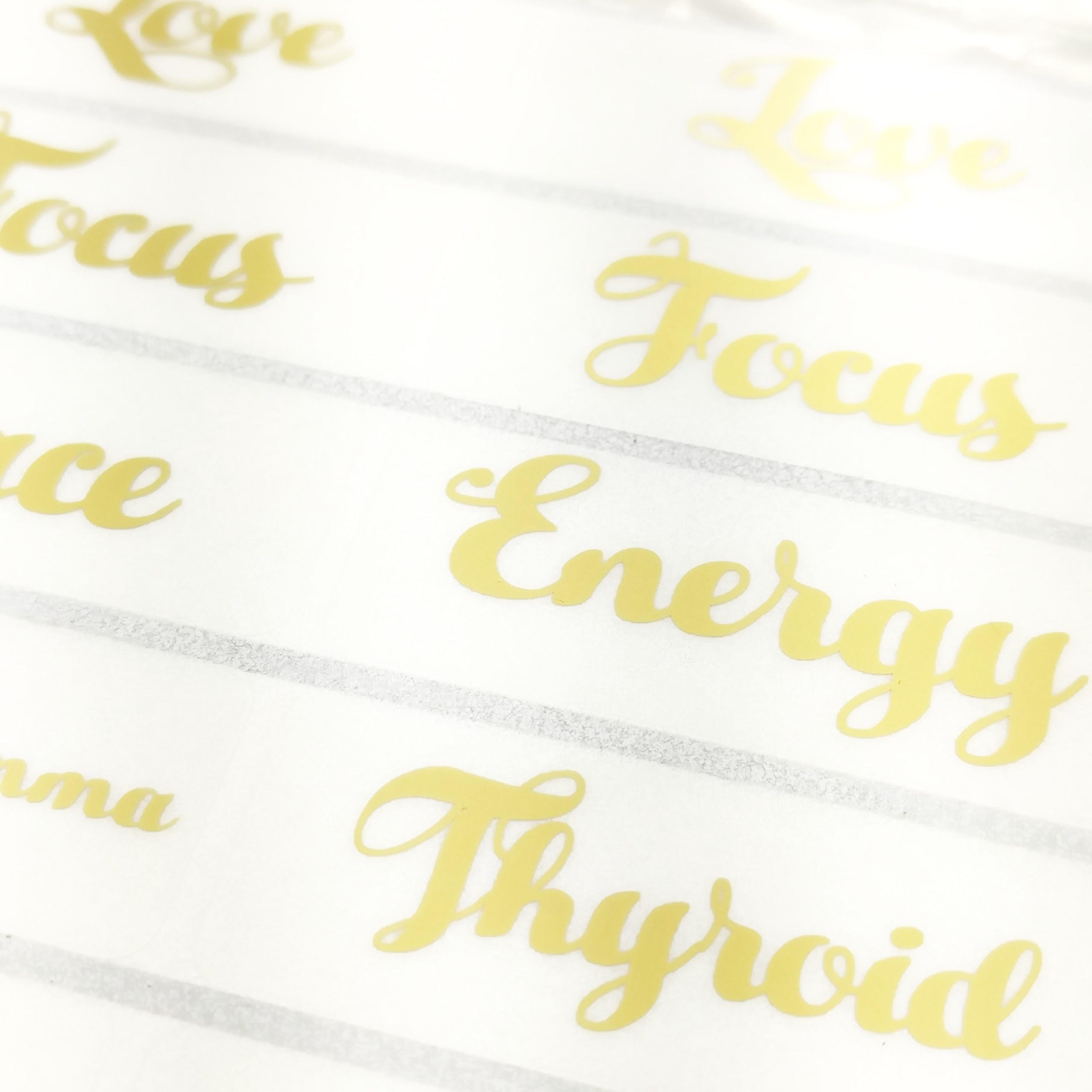 Wedding Bubble Labels Gold Foil Stickers, Personalized Clear Tube ...