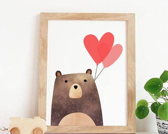 Valentines Day Card, Bear Valentines Print, Funny Valentine Card, Funny  Valentineu0027s Day Card