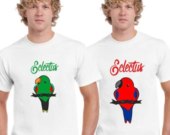 Eclectus Parrot Design T Shirt by Ameiva Apparel