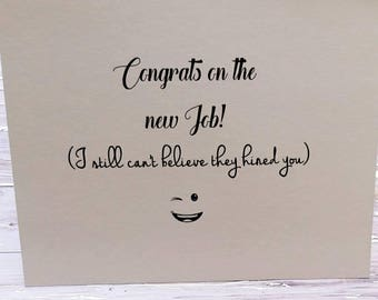Funny coworker card, funny retirement card, funny congratulations card, adult humor card, funny work card, new job card, employee card,