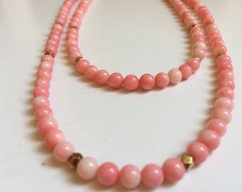 Pink Coral Necklace (Summer Collection)
