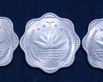 Nine (9) Indian Lotus Coins - 24mm