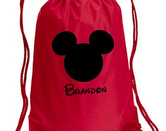 Disney Backpack,Mickey Mouse Bag,Personalized,drawstring bag,Disney Bag,Mickey Mouse Day Bag,Mickey Mouse,Disney bag,Mickey Drawstring bag