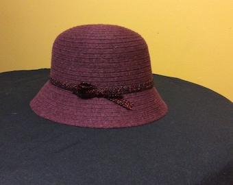 Vintage Ladies Wool Hat Made in Italy