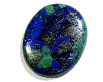 41Cts 33X27X5mm Azurite Malachite Loose Gemstone Cabochon Oval Shape Excellent!!! Azurite Stone - Azurite Cabochons Top Quality Natural Gems