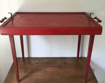 Delightful Tray Table, Antique Tray Table, R.R. Scheibe Converto Tray Table, Serving  Tray