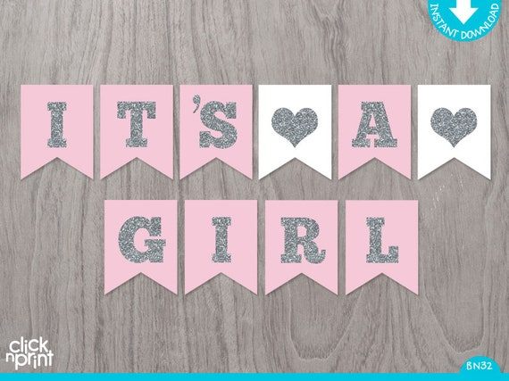 photo regarding Baby Shower Banner Printable referred to as it s a woman banner printable -