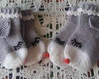 New hand knitted baby socks
