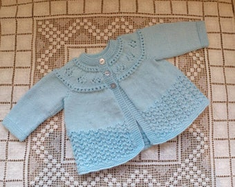Lovely little jacket for your baby boy newborn to three months