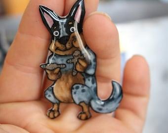 Blue heeler magnet: Great gift for Austrialian cattle dog lover for car locke ror fridge