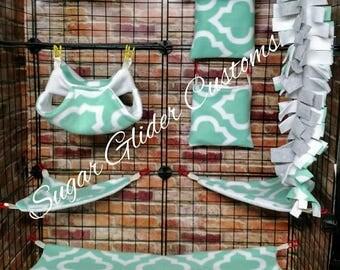 Aqua Moroccan 13 Piece Sugar Glider Cage Set option #33
