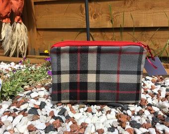 Grey Thomson Tartan Purse/Cosmetic Bag