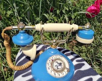 Stylish home telephone Vintage rotary phone Retro home telephone Old rotary telephone Desk phone Home decor telephone Office Decor Rotary