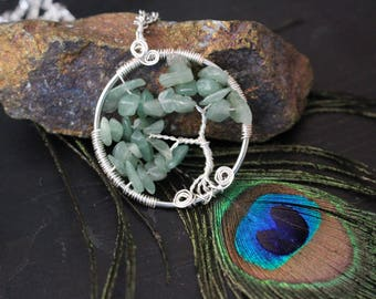 Aventurine Tree of Life Pendant