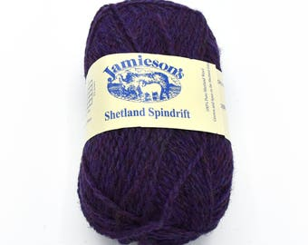 Destash Yarn - Purple Yarn - Shetland Yarn - Knitting Wool - Yarn for Sale - Shetland Wool - Shetland - Knitting Yarn - Fair Isle - Knitting