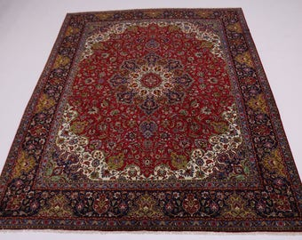 Excellent Vintage Handmade Classic Tabriz Persian Rug Oriental Area Carpet 10X13