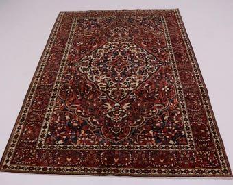 Great Shape Unique Hand Knotted Bakhtiari Persian Rug Oriental Area Carpet 7X10