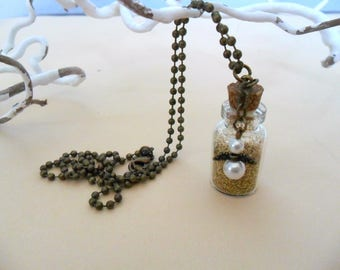 Guardian Angel and fairy dust necklace