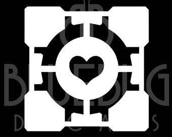 Portal Companion Cube High Quality Decal