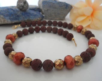 Brown lava with bohemian glass