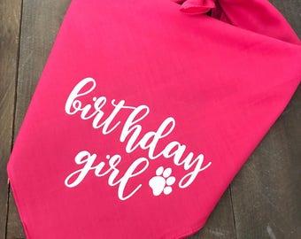 Birthday Girl Dog Bandana. Happy Birthday Dog Bandana. Dog Birthday Party Decor. Dog Birthday Bandana. Dogs First Birthday. Custom Dog Banda