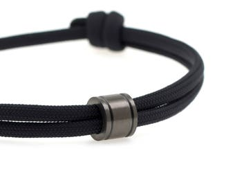 KOMIMAR surfer bracelet BLACK GUNMETAL