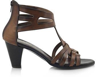 Handmade leather Heel sandal