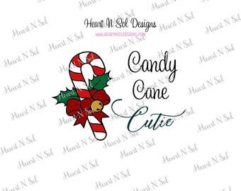 Christmas, Candy, Candy Cane Cutie, Candy Cane, SVG, EPS, DXF, Digital file, Instant Download, Silhouette, Cricut