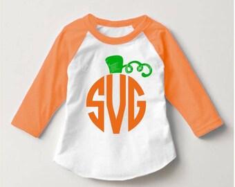 Pumpkin monogram svg, halloween svg, cute halloween svg, pumpkin svg, digital download, Halloween, SVG, DXF, EPs, PNG, Cricut, Silhouette