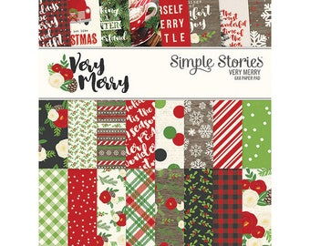 Simple Stories - Very Merry 6 x 8 pad