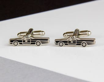 Batman Batmobile Car Cufflinks DC Comics Black Men's Gifts Classic Timeless Groomsmen Gift Men's Jewellery Cufflinks