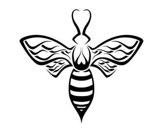 Manchester bee vinyl sticker for walls, furniture, cars, windows etc tribal design