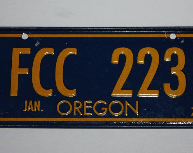1978 Oregon Wheaties Post Cereal Premium Bike Mini Metal License Plate